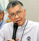 Archbishop Lagdameo, president of the catholic bishops conference of the Philippines