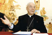 Cardinal Poupard, president of the Pontifical Council for Culture