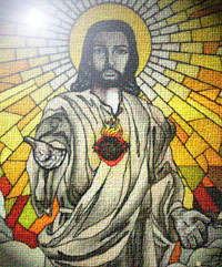 Jesus in stained glass